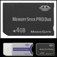 4GB memory stick pro duo For Sony